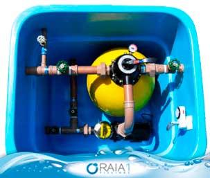 A filtração da piscina