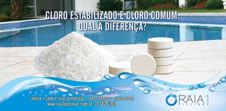 Diferença entre cloro estabilizado e comum