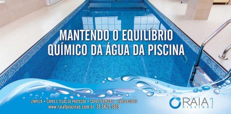Mantendo o equilíbrio químico da água da piscina