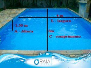 Volume da piscina