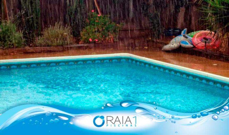 a piscina na chuva