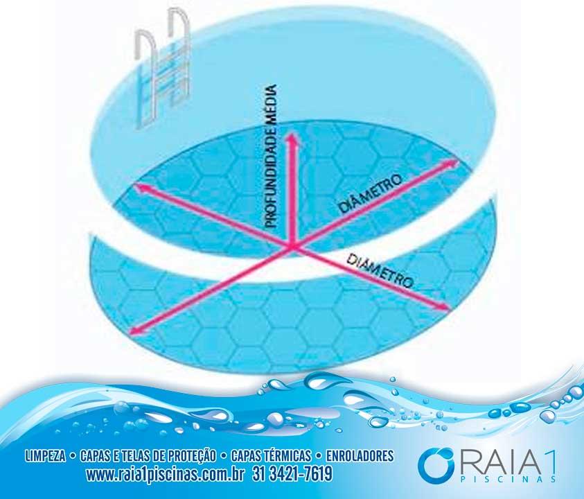 Calcular metros cubicos piscina redonda imagen titulada for Calcular volumen piscina