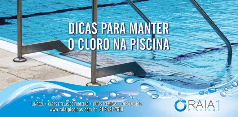 manter o cloro na piscina