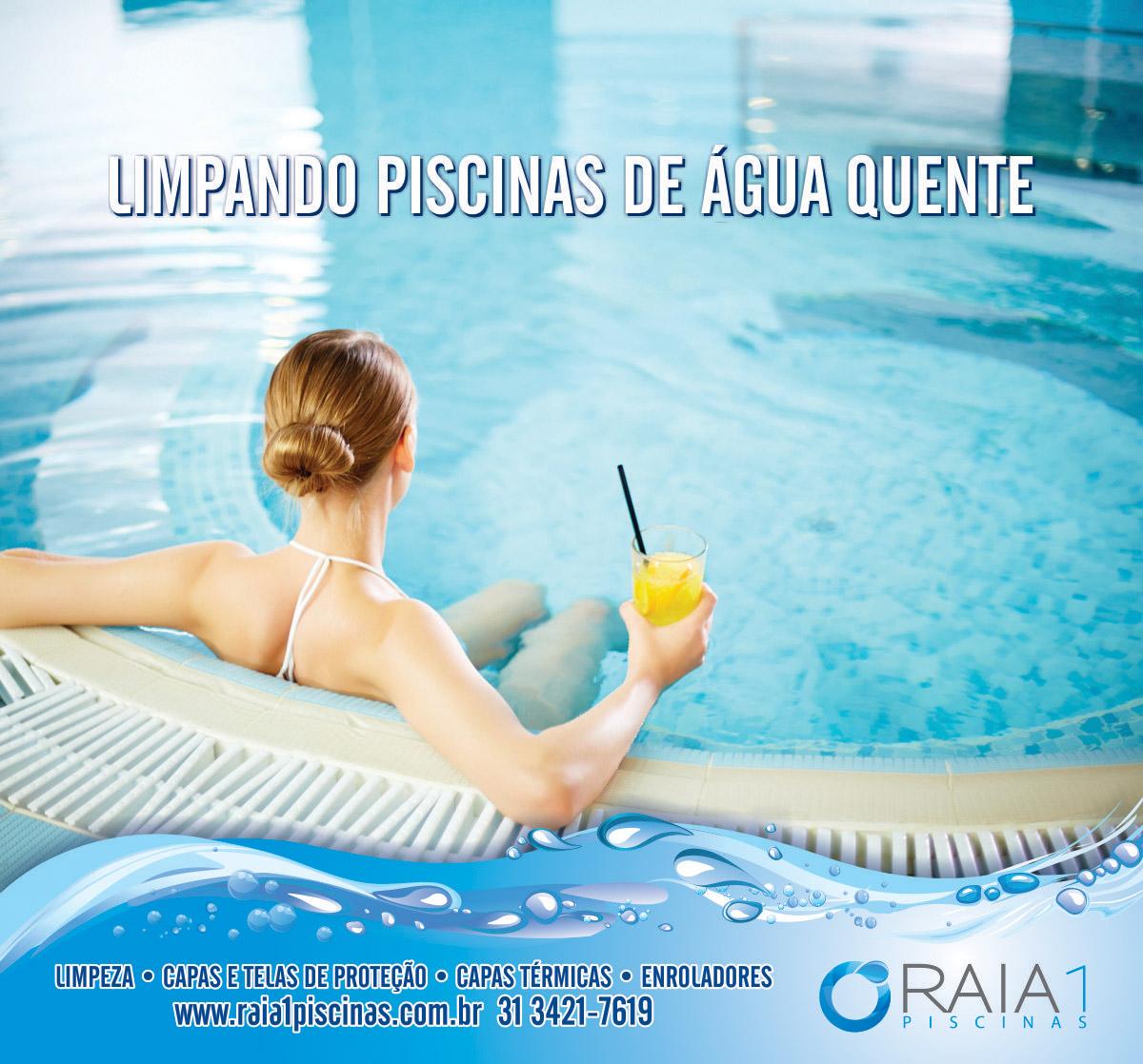limpando piscinas de água quente