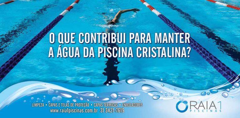 manter a água da piscina cristalina bh