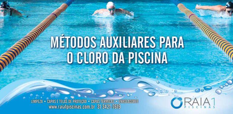 metodos auxiliares para o cloro na piscina