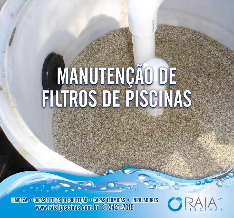 manutenção do filtro de piscina