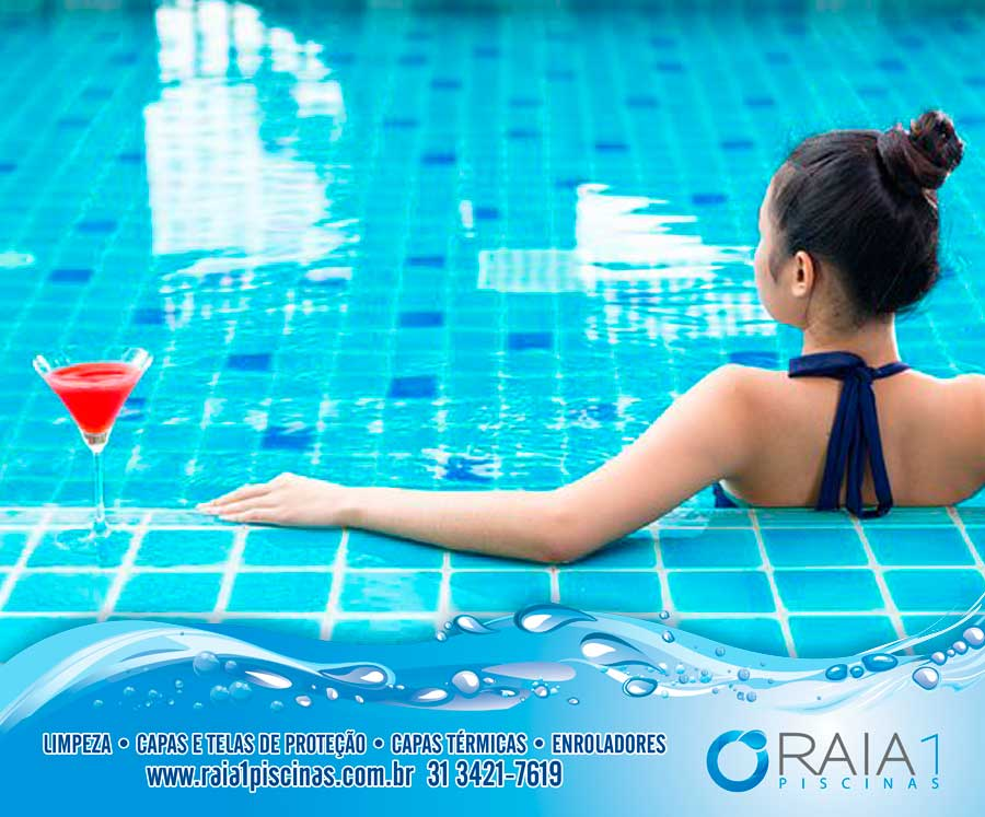 sol na piscina