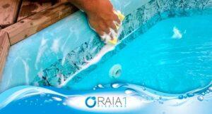limpeza das bordas da piscina