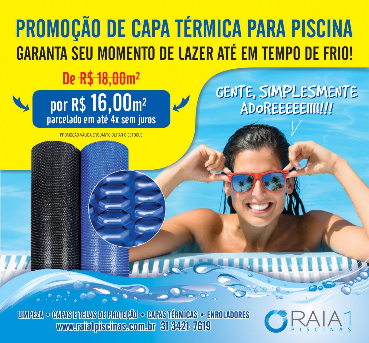 capa térmica para piscina promocao em bh