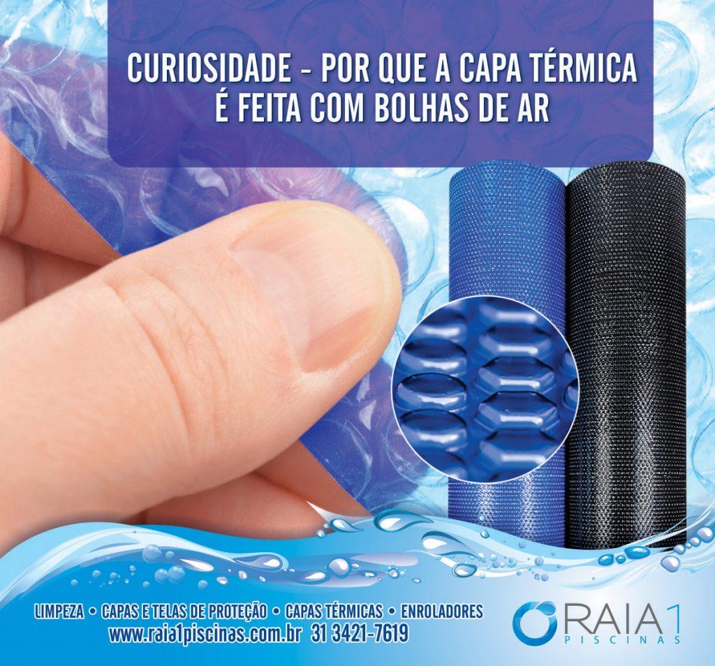 por que a capa térmica para piscina é feita com bolhas de ar bh