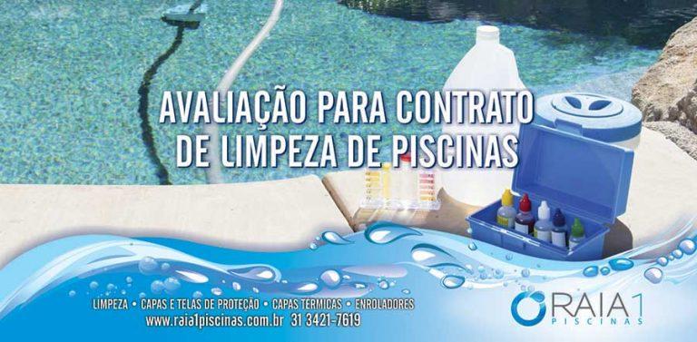 Avaliação para contrato de limpeza de piscinas em bh