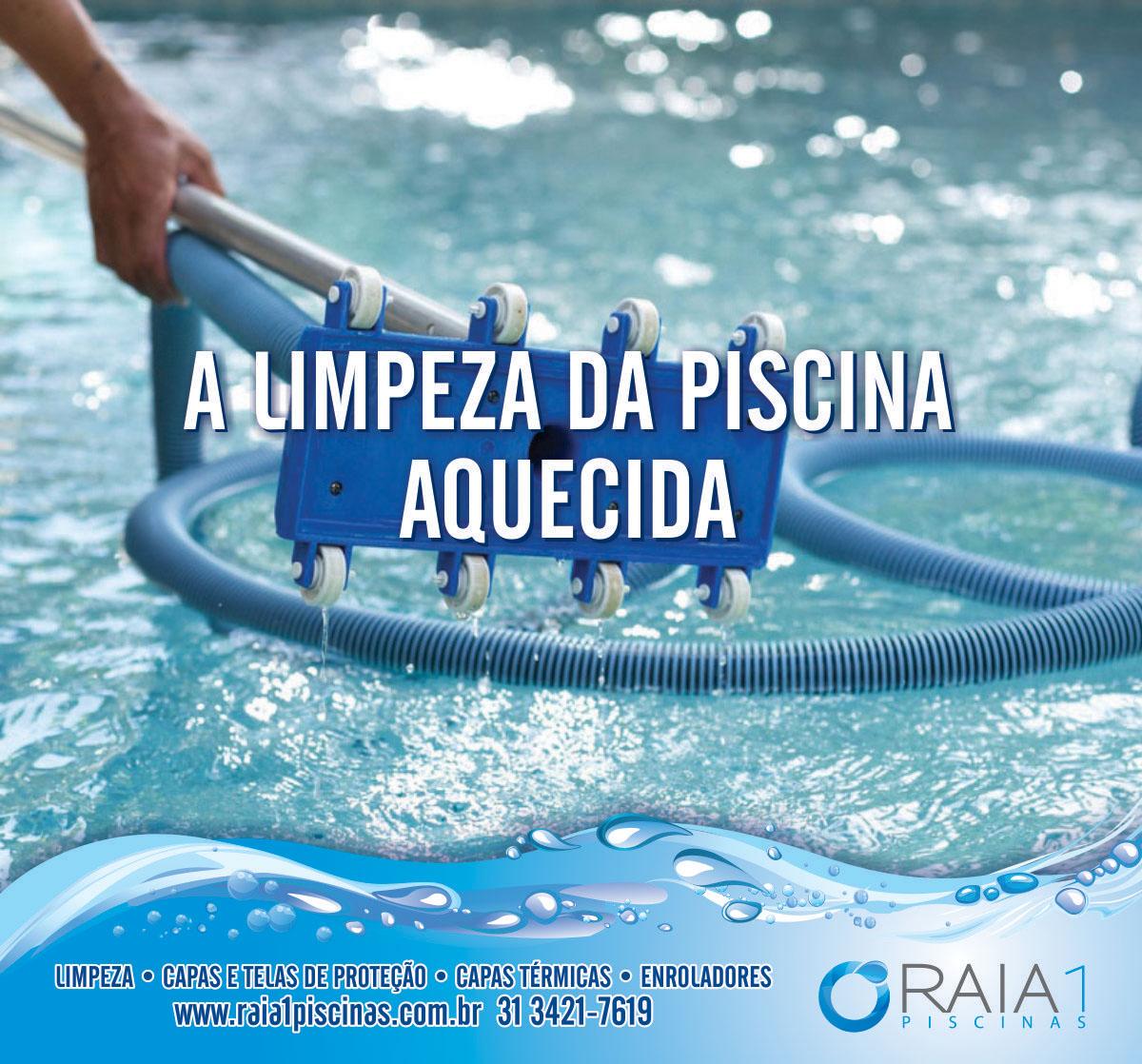 limpeza da piscina aquecida em bh