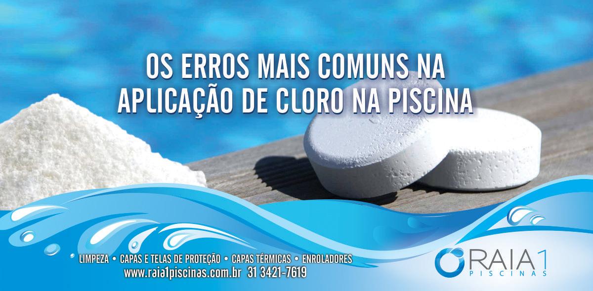 aplicação de cloro na piscina bh